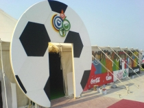 Entrance for FIFA World cup theme party